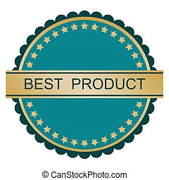Choice Best Product Gold retro vector image