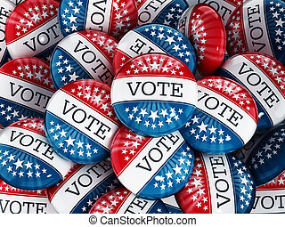 Vote buttons stack with red and blue colors with the word...