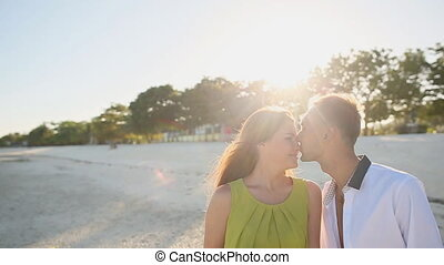 Love Couple Kissing And Go