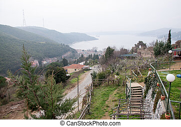 Bosphorus - view from a hill on the Bosphorus