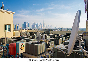 air-conditioning on the roof in Dubai