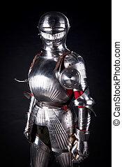 Knight in metal armor