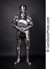 Knight in metal armor