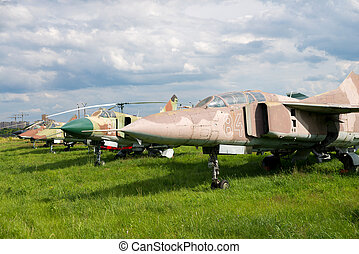 plane - three military fighter plane at day