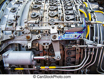 airplane engine - background, part of an airplane engine