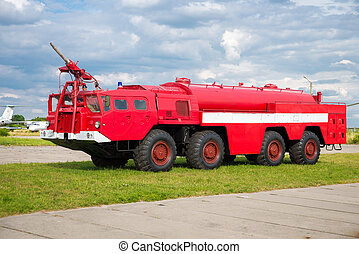 fire truck - big red fire truck