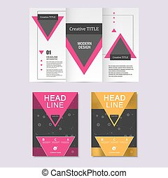 Vector brochure layout design template.