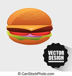fast food design - fast food icon design, vector...