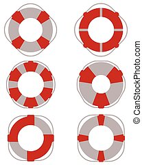 lifebuoy for salvage - Icons of lifebuoy for salvage, vector...