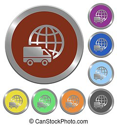 Color international transport buttons