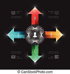 Business Infographics Arrows Chart