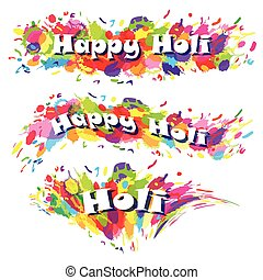 Abstract for Happy Holi colourful background. Vector...
