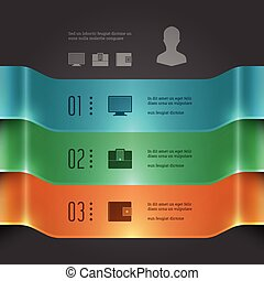 Business Infographics 3D Banners