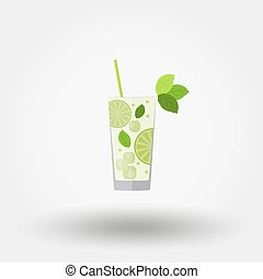 Mojito. Cocktail icon. - Mojito. Cocktail. Icon for web and...