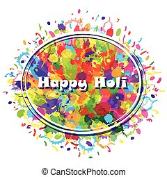 Abstract for Happy Holi colourful background Vector...