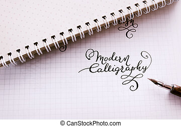 Hand drawn lettering background Lettering brush calligraphy...