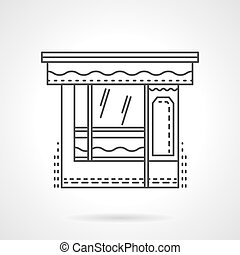 Dishes shop flat line design vector icon
