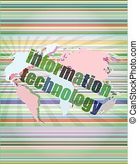 digital information technology concept background vector...