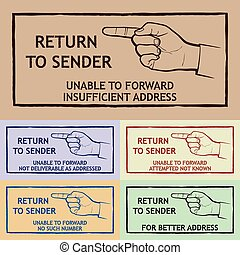 Mail Delivery Stamp - Mail delivery stamp - return to sender