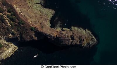 AERIAL Cape Fiolent Cliff Fantastic View, Crimea - AERIAL...
