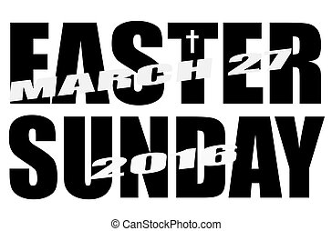 Easter Sunday 2016 Date Icon