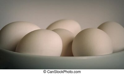 Rotating Eggs In Bowl
