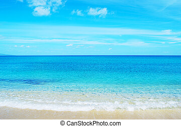 Fiume Santo beach on a clear day, Sardinia