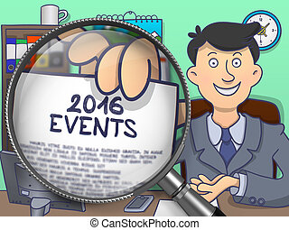 2016 Events through Magnifier. Doodle Style. - 2016 Events...