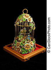 Exclusive cage with canaries