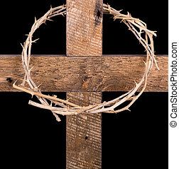 Crown of Thorns on a Cross