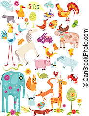 big animal set - vector illustration of a animal set