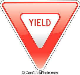 Yield - an illustration of an american road signs