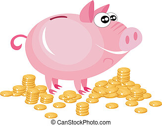 piggy bank - vector illustration of a piggy bank