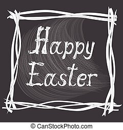 easter card with creative text - Hand drawn creative text...