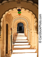 Paigah tombs ,Hyderabad - Historic Paigah tombs corridor in...