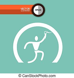 olimpic torch design, vector illustration eps10 graphic