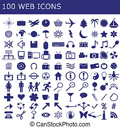 100 icons for web applications - 100 icons for web...