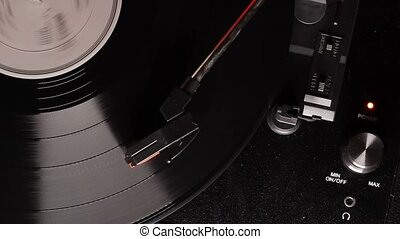 Record player retro turntable that plays vinyl vintage...