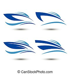 speedboat  - speed boat logo icon