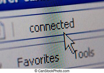Closeup of internet url address - Closeup of internet...