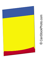 Post-it note Chad flag