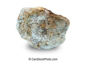 pietre, bianco, isolato