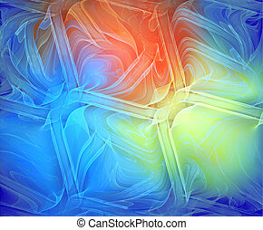 Illustration of an abstract fractal background with a...