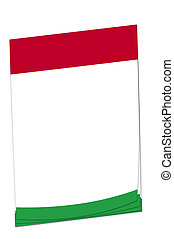 Post-it note Hungarian flag