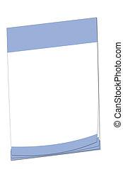 Post-it note Israeli flag