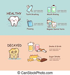 health dental care concept - infographics of health dental...