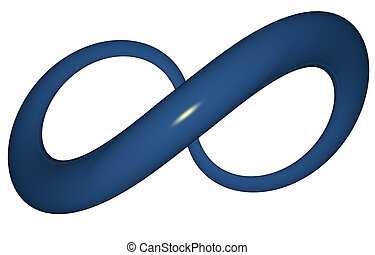 Infinity Sign - Illustration of a blue infinity sign in 3-d...