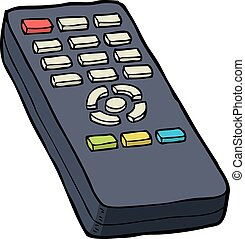 TV remote control - Cartoon doodle TV remote control vector...