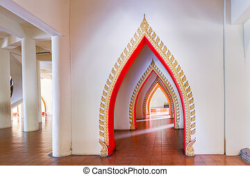 Pathway in Buddhist Temple names quot;Wat Tham Suaquot; and...
