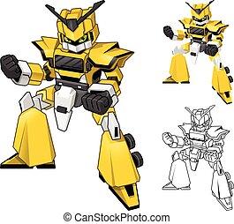 Robot Truck Transform Cartoon Character - Robot Truck...
